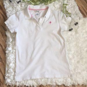 LILLY PULITZER Palm Tree 🌴 Golf Polo Shirt sz S